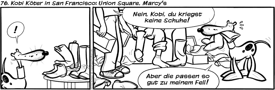 76. Kobi Köter in San Francisco: Union Square, Marcy's